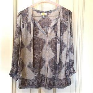 Joie Silk Button Front Blouse Sz XS